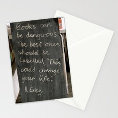 Books can be dangerous Stationery Cards