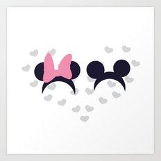 Mickey & Minnie Art Print