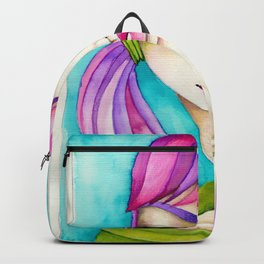Original Watercolor IIIustration/Eve by JennyMannoArt Backpack