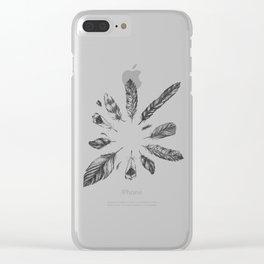 circulo de plumas Clear iPhone Case