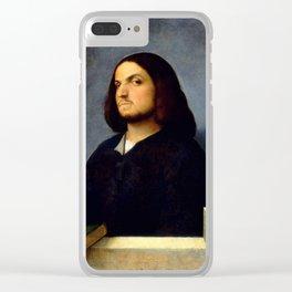 "Giorgione ""Portrait of a Venetian Gentleman"" Clear iPhone Case"