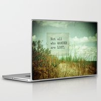 not all who wander Laptop & iPad Skins featuring Not All Who Wander by Olivia Joy StClaire