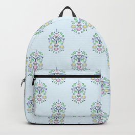 Cartoon Kurbits - Flower Tapestry Backpack