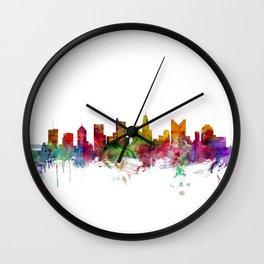 Columbus Ohio Skyline Wall Clock