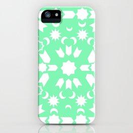 Peppermint Arabesque iPhone Case