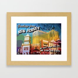 New Jersey Postcard Framed Art Print
