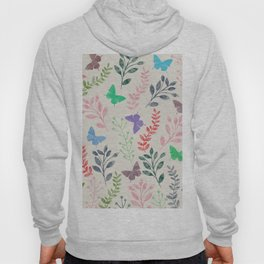 Watercolor flowers & butterflies Hoody