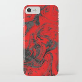 Black & Red Marble I iPhone Case