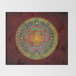 Aztec Sun God Throw Blanket