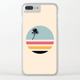 Retro Island Clear iPhone Case