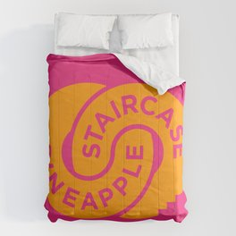 Pineapple Staircase     Official Logo in Pink/Orange Comforters