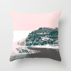 village by the sea. Throw Pillow