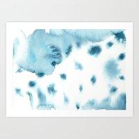 indigo shibori 06 Art Print