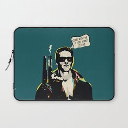 The Terminator Pop art film quote Laptop Sleeve