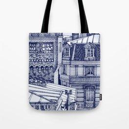 Blue house Tote Bag