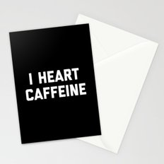 I Heart Caffeine Funny Quote Stationery Cards