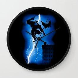 The Blue Mite Returns Wall Clock