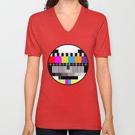 Television Color Test Unisex V-Neck