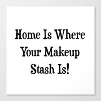 makeup Canvas Prints featuring MAKEUP by I Love Decor