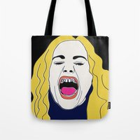 true blood Tote Bags featuring Anna Paquin / True Blood / Sookie Stackhouse by cleopetradesign.com