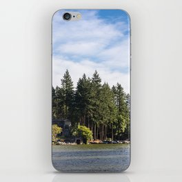 Homes along the shore of Lake Oswego, OR iPhone Skin
