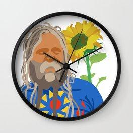 Flower Power Dread Wall Clock