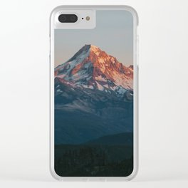 Mount Hood Sunset Clear iPhone Case