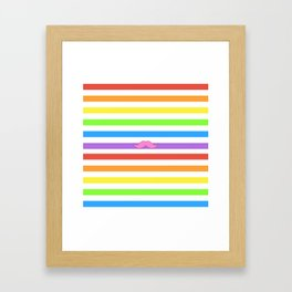 Pink Rainbow Mustache Madness! Framed Art Print