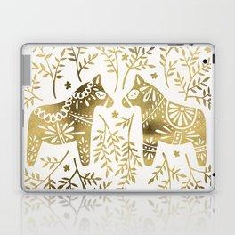 Swedish Dala Horses – Gold Palette Laptop & iPad Skin