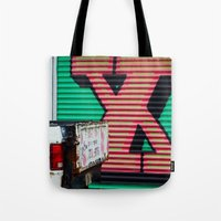 the xx Tote Bags featuring XX by leaff