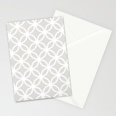 Gray Geometric Circles Stationery Cards