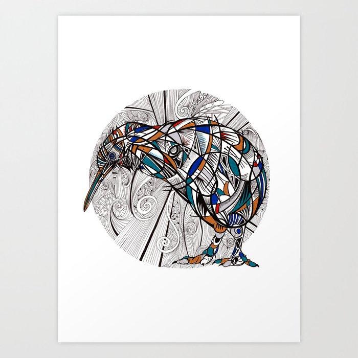 Geometric kiwi Kunstdrucke