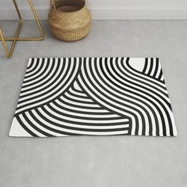 Moving lines Rug