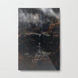 Dark Waterfall Metal Print