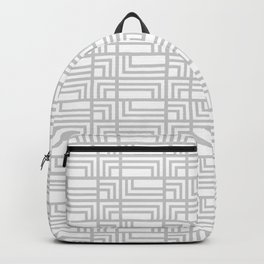 Grey Shapes Pattern Backpack