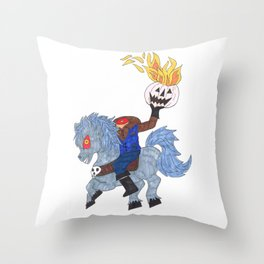 Headless Horseman Throw Pillow