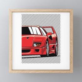 F40 Racing Framed Mini Art Print