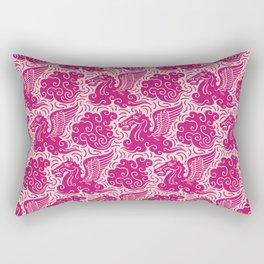 Pegasus Pattern Pink and Raspberry Rectangular Pillow