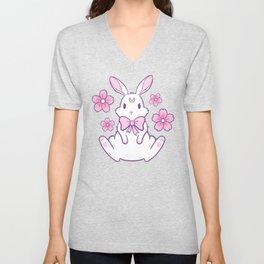 Sakura Bunny 02 Unisex V-Neck