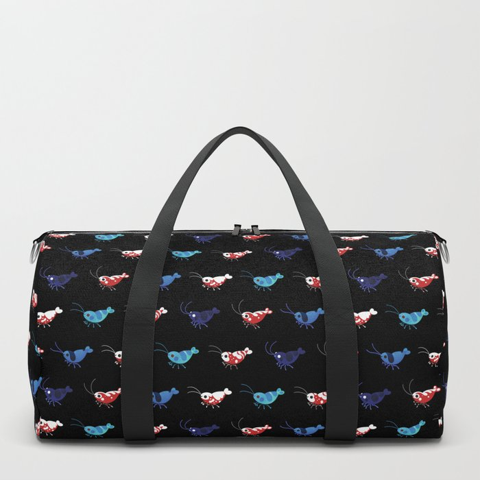 Red and blue shrimp Duffle Bag