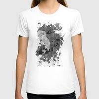 ashton irwin T-shirts featuring Cosmic dreams (B&W) by Viviana Gonzalez