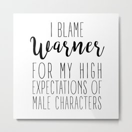 High Expectations - Warner Metal Print