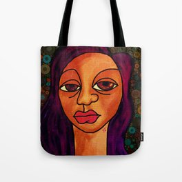 Brown Girl Blue Tote Bag