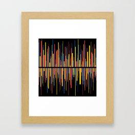 LINE w/black Framed Art Print