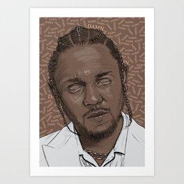 Kendrick Lamar. Art Print