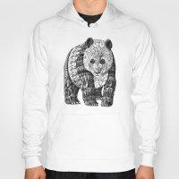 panda Hoodies featuring Panda by BIOWORKZ