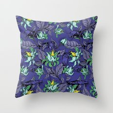 The Sea Garden - deep blue Throw Pillow
