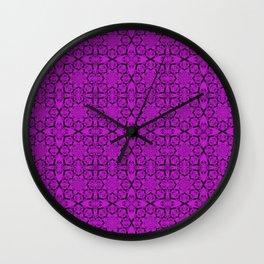 Dazzling Violet Geometric Wall Clock