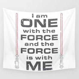 Force is with Me - Red Wall Tapestry