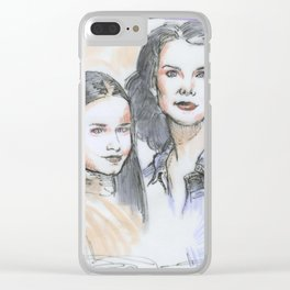 Lorelai & Rory Clear iPhone Case